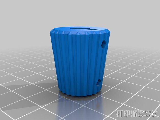 凸边齿轮旋钮 3D模型  图10