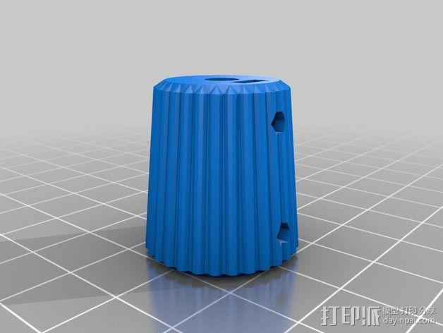 凸边齿轮旋钮 3D模型  图12