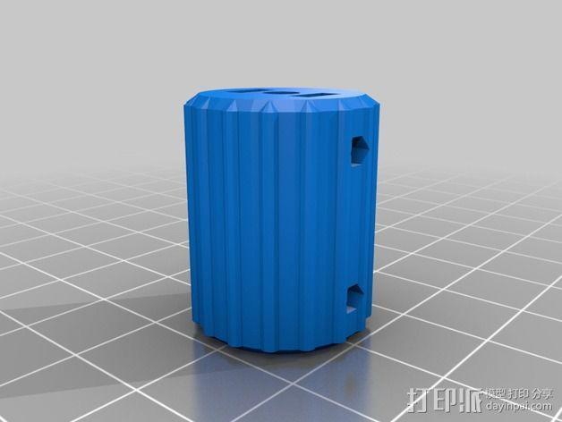 凸边齿轮旋钮 3D模型  图14