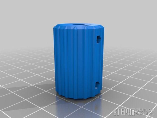 凸边齿轮旋钮 3D模型  图13