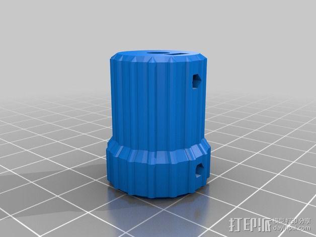 凸边齿轮旋钮 3D模型  图15