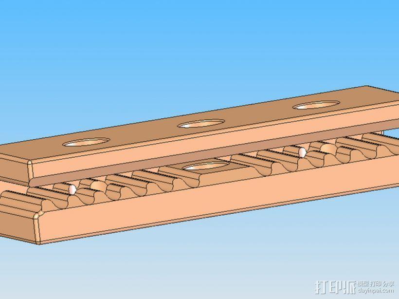 Mini Kossel皮带接合器 3D模型  图1