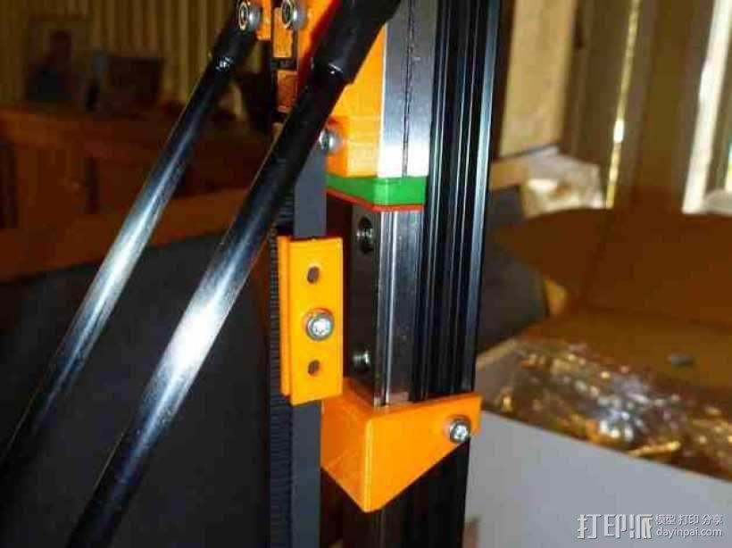 Mini Kossel皮带接合器 3D模型  图4