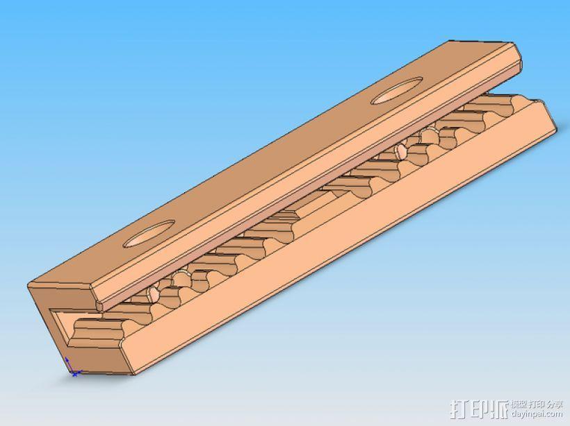 Mini Kossel皮带接合器 3D模型  图7
