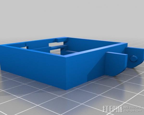 Replicator 打印机X轴锚链 3D模型  图3