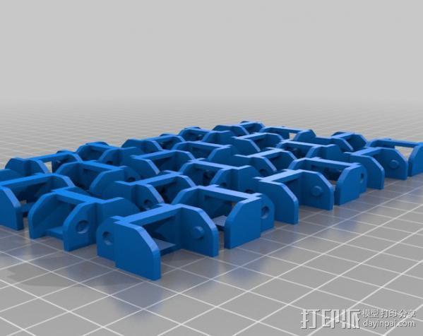 Replicator 打印机X轴锚链 3D模型  图5