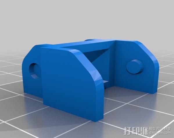 Replicator 打印机X轴锚链 3D模型  图6