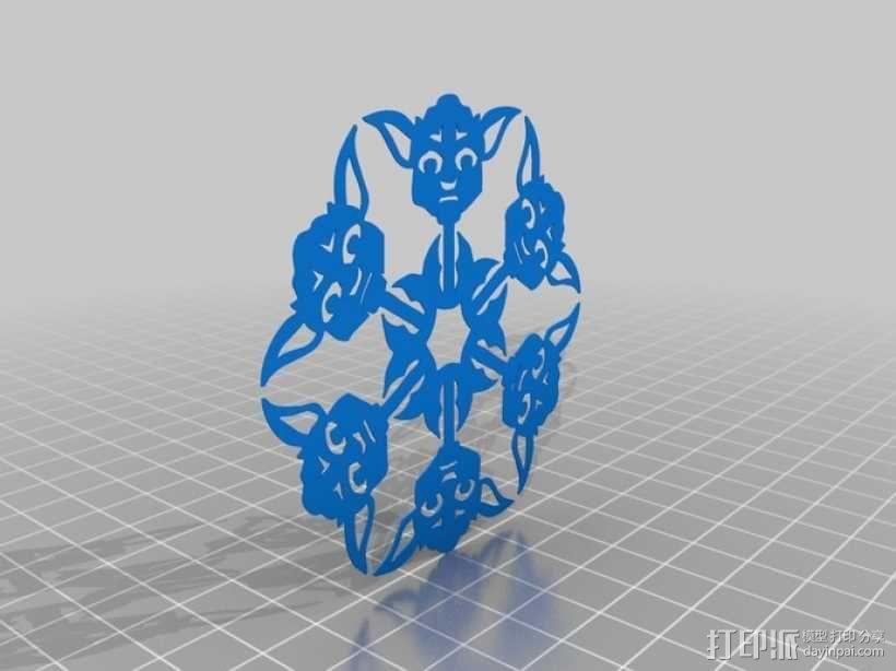 星球大战装饰物 3D模型  图1