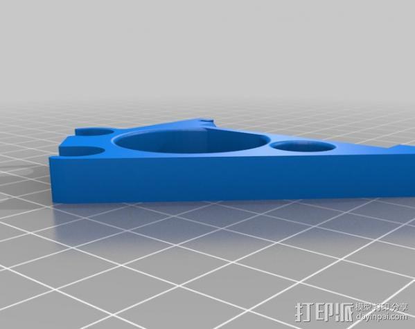 Prusa i3打印机控制器显示屏支架 3D模型  图2