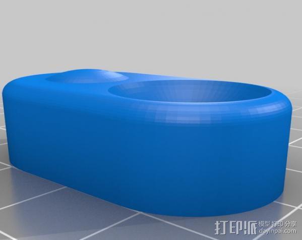 Prusa i3打印机控制器显示屏支架 3D模型  图3