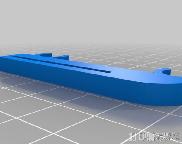 打印机X轴限位开关夹 3D模型  图2