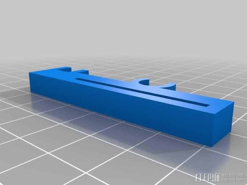 打印机Z轴限位开关夹 3D模型  图2