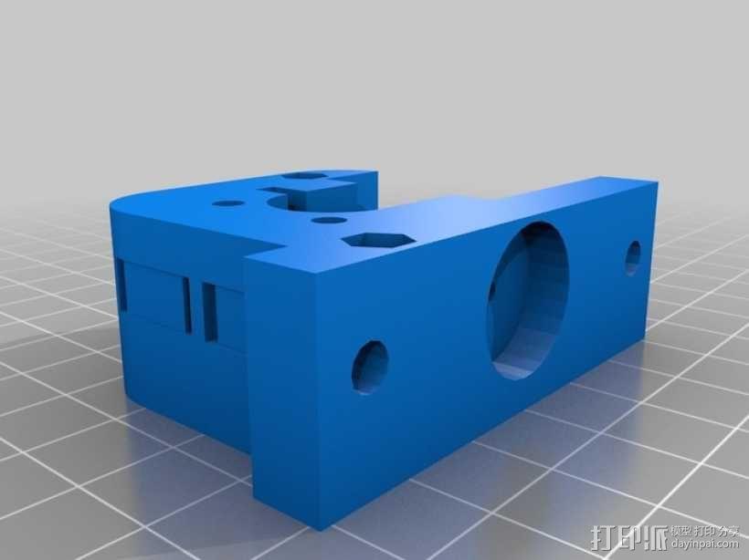 Kossel打印机的挤出机 3D模型  图1