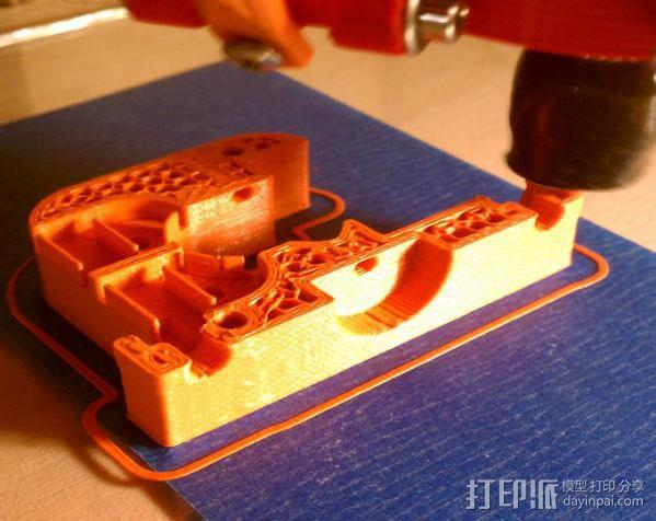 Kossel打印机的挤出机 3D模型  图2
