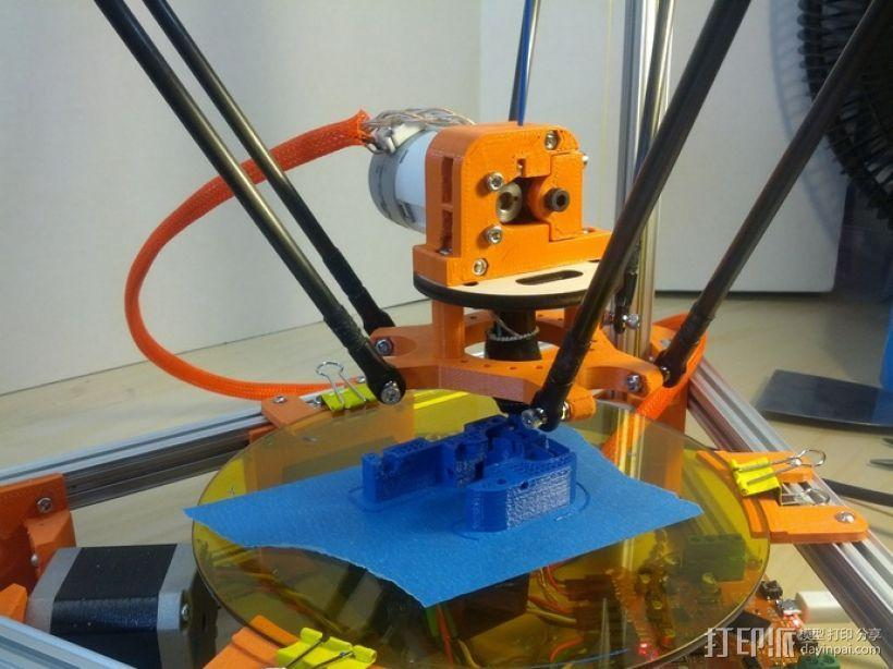 Kossel打印机的挤出机 3D模型  图4