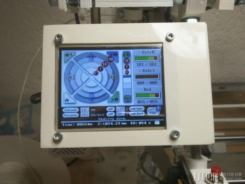 RepRap触摸液晶屏 3D模型  图1