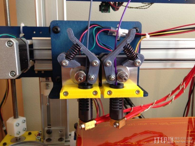 双挤出机支撑座 支架 3D模型  图1