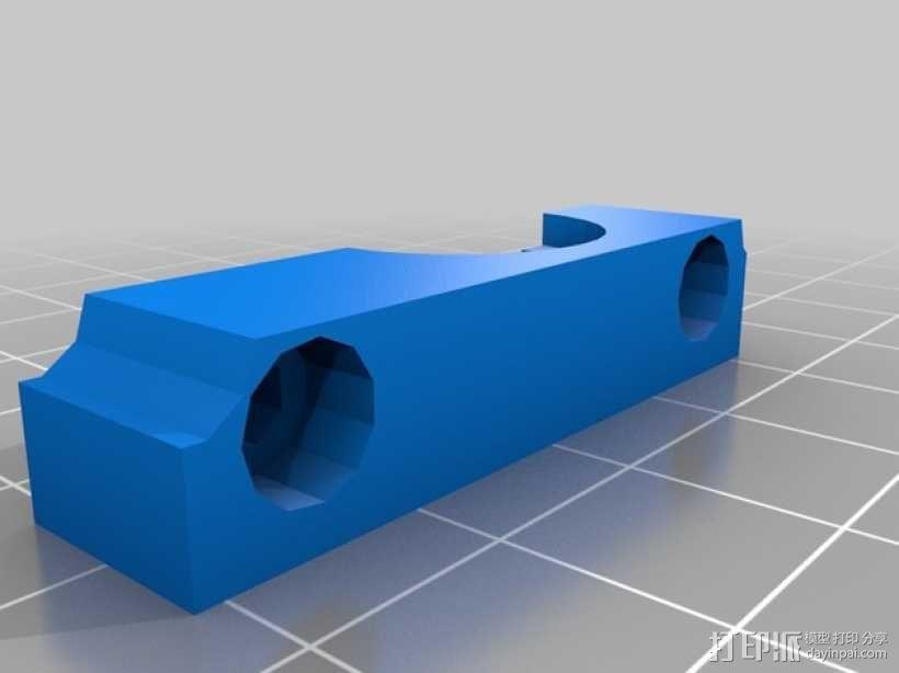 双挤出机支撑座 支架 3D模型  图4
