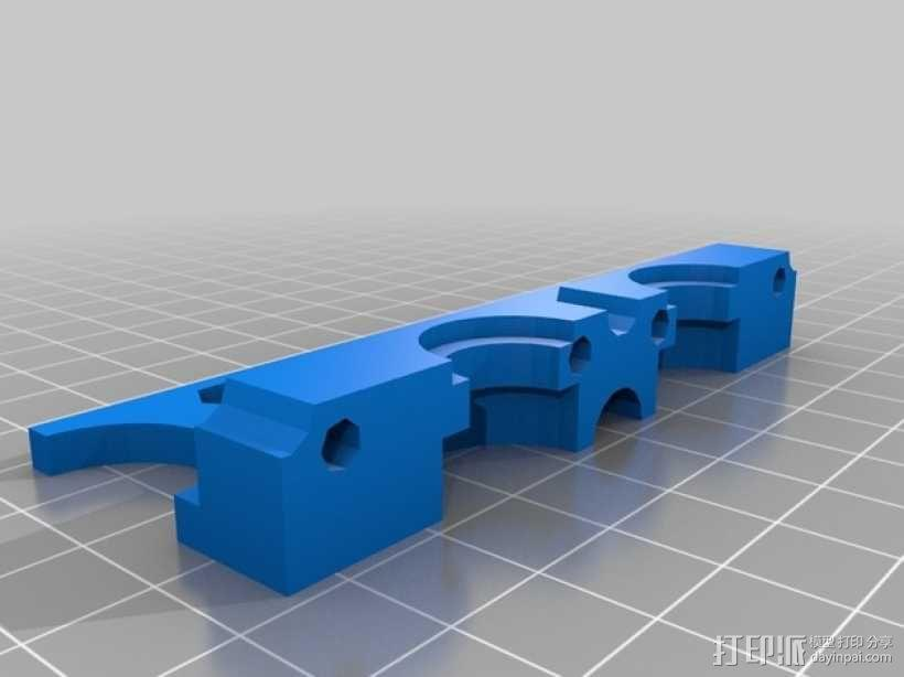 双挤出机支撑座 支架 3D模型  图2