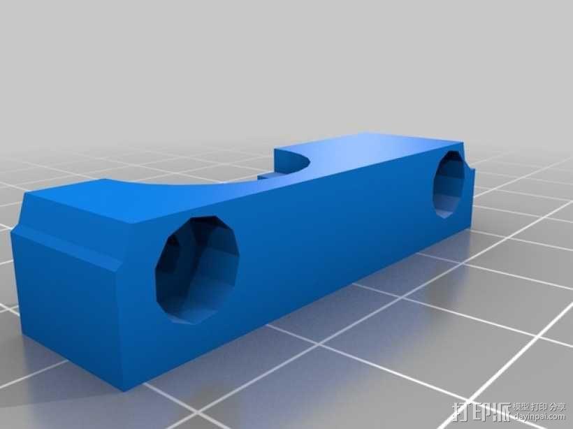 双挤出机支撑座 支架 3D模型  图3