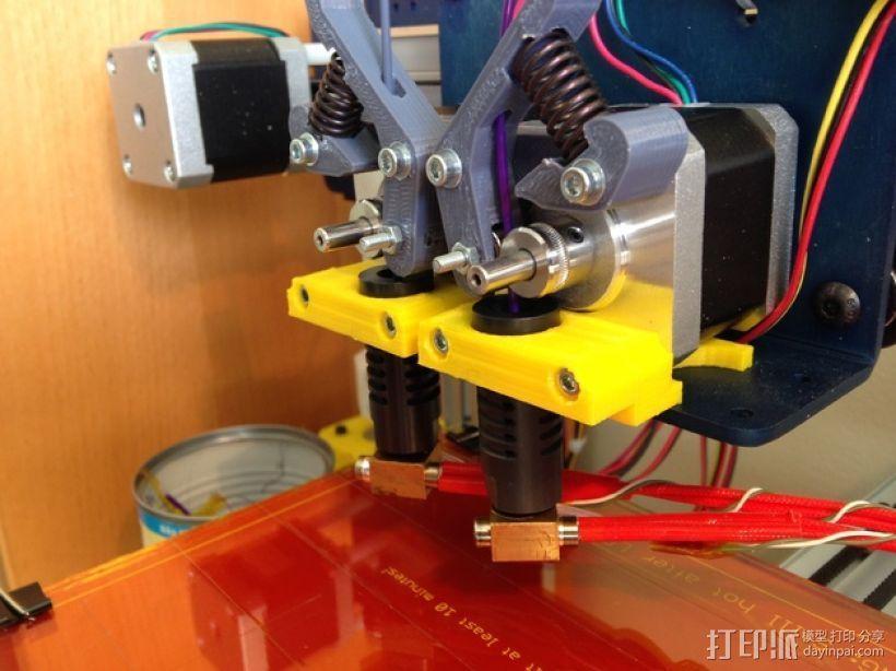 双挤出机支撑座 支架 3D模型  图5