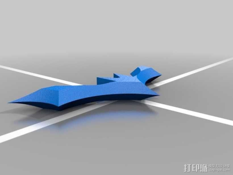 蝙蝠侠飞镖 3D模型  图1