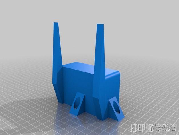 PRUSA I3电子显示屏支架 3D模型  图2