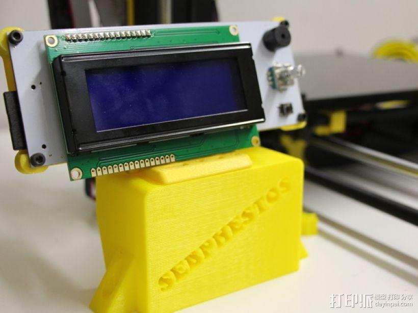 PRUSA I3电子显示屏支架 3D模型  图1