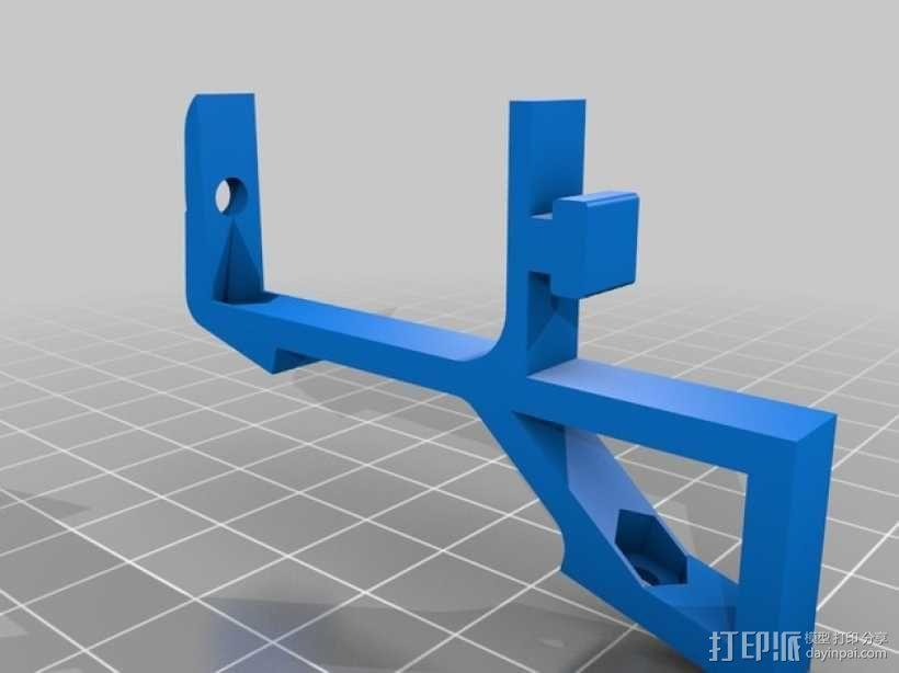 Kossel Mini打印机显示屏支架 3D模型  图1