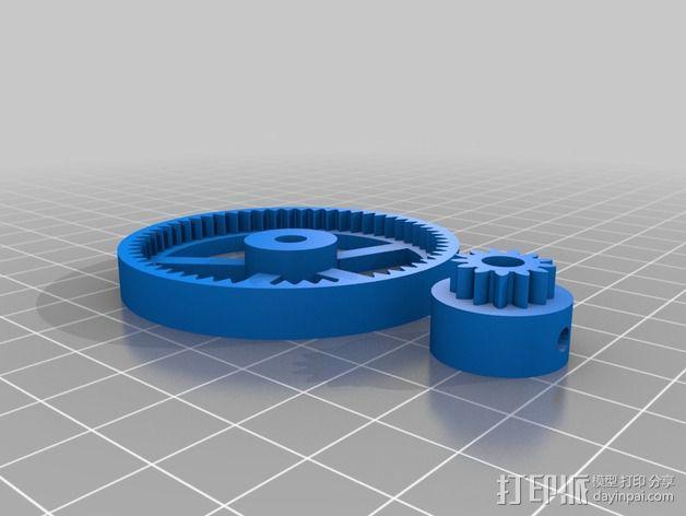 Mini Fala挤出机 3D模型  图2
