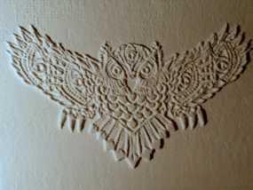 光刻 猫头鹰 3D模型