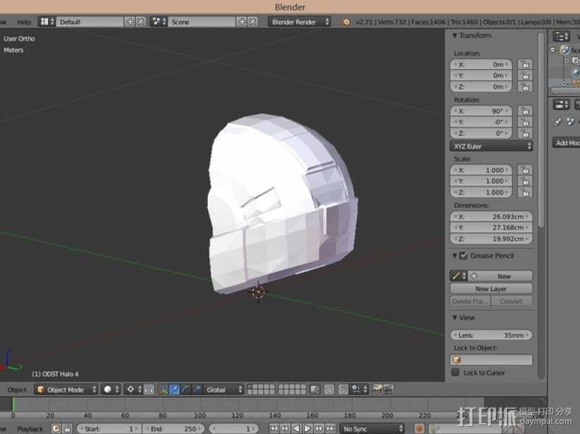 光晕头盔 3D模型  图12