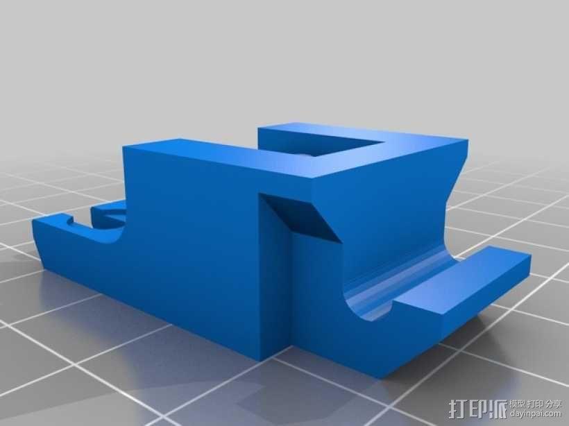 挤出机惰轮 3D模型  图2