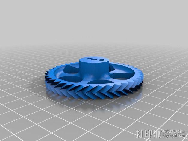 Orca挤出机齿轮组 3D模型  图2