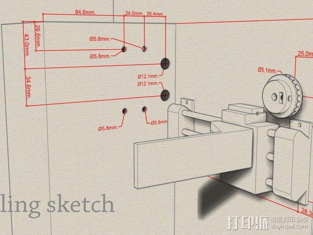 Uncia DLP 3D打印机硬件零件 3D模型  图2