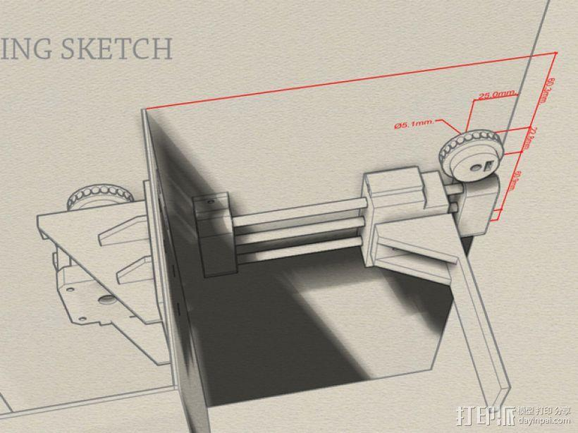 Uncia DLP 3D打印机硬件零件 3D模型  图1