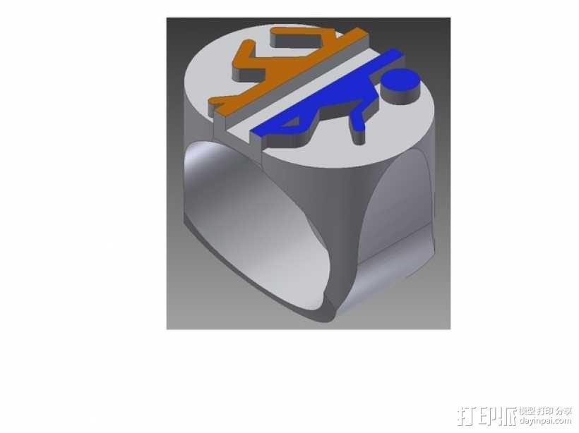 传送门 戒指 3D模型  图1
