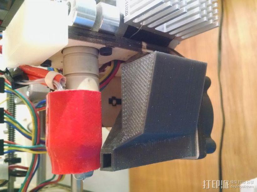挤出机风扇罩 3D模型  图1