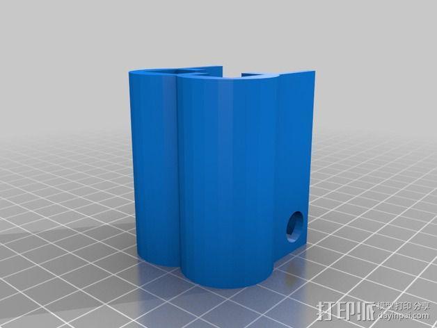 线轴架支撑器 3D模型  图3