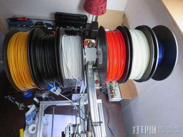 线轴架支撑器 3D模型  图4