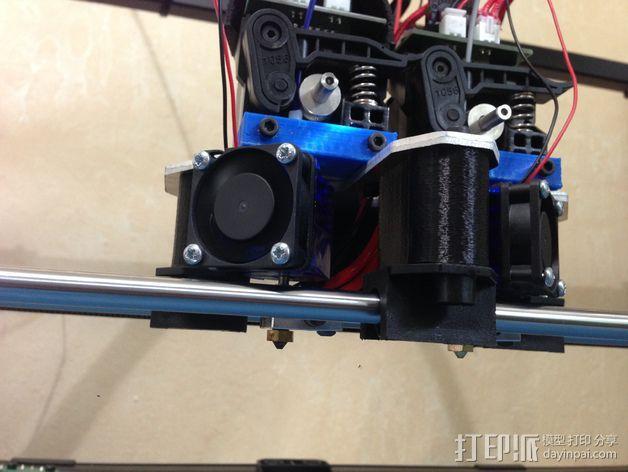 挤出机喷嘴座 3D模型  图3