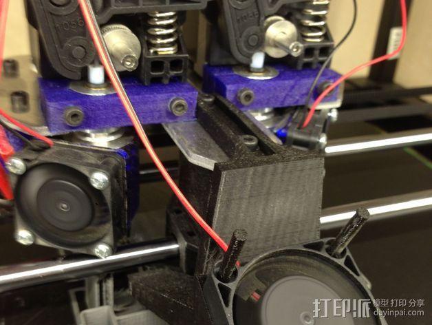 挤出机喷嘴座 3D模型  图2