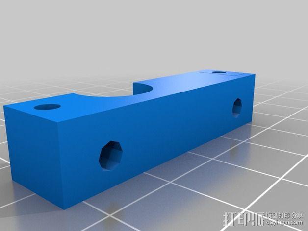 挤出机喷嘴座 3D模型  图4