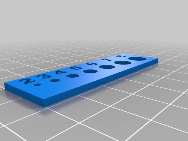 孔径尺寸模板 3D模型  图1