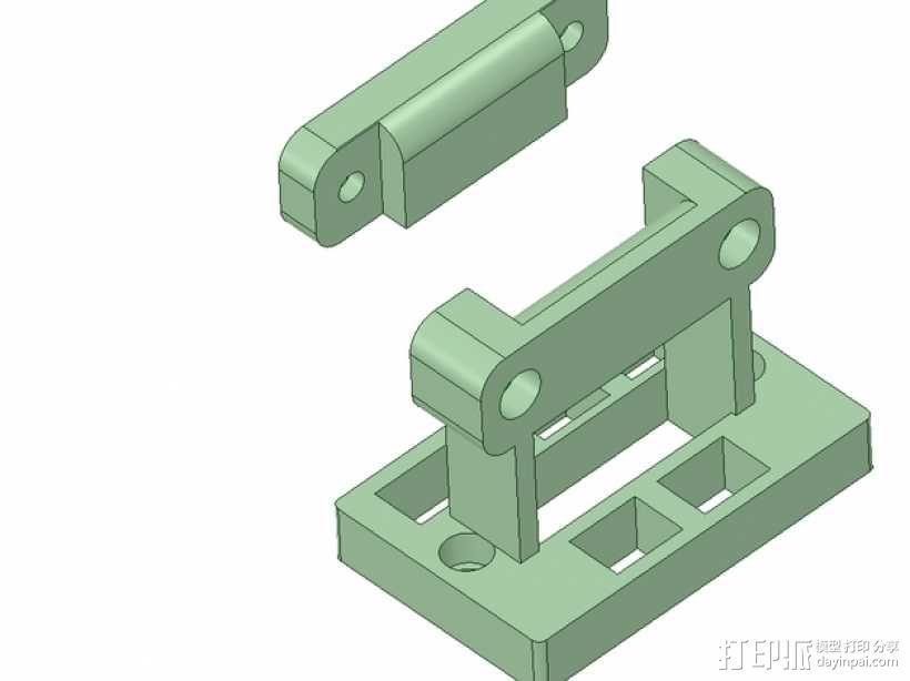 Rigidbot 电缆夹 3D模型  图1