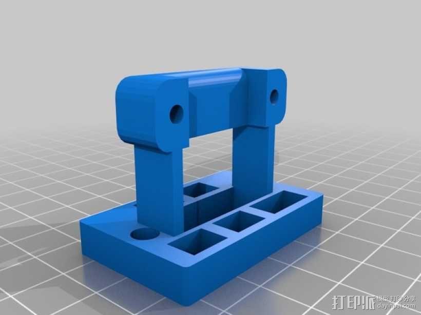 Rigidbot 电缆夹 3D模型  图3