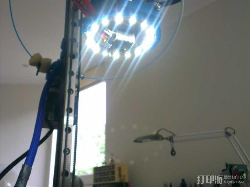 Mini Kossel LED环形灯 3D模型  图1
