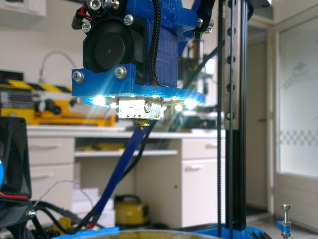 Mini Kossel LED环形灯 3D模型  图4