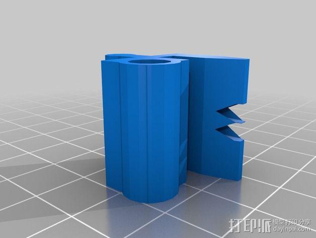 双孔导线器 3D模型  图2