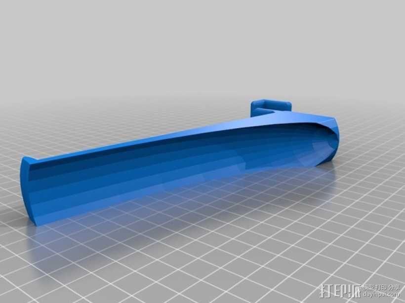 线轴卷支架 3D模型  图2